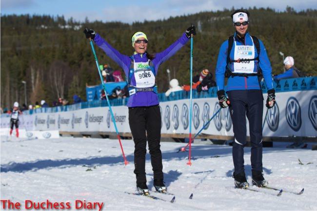 pippa middleton competes james matthews ski race norway