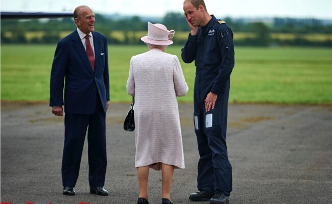 The Queen and Prince Philip Visit Prince William At East Anglia Ambulance Base