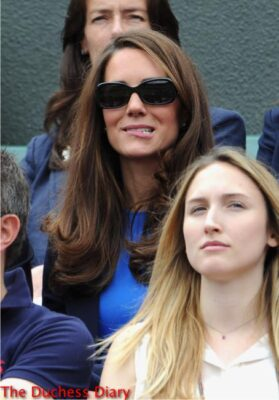kate middleton sunglasses blue dress bites lip mens tennis olympics 2012