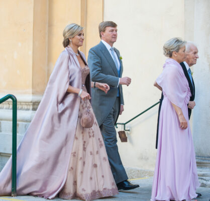 king willem alexander grey suit queen maxima gown vienna wedding