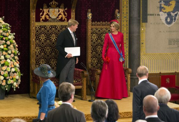 king willem alexander queen maxima dutch opening parliament 2014