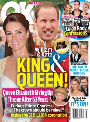 kate middleton white alexander mcqueen dress prince william colonel irish guards ok! cover september 2015