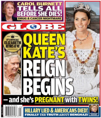 kate middleton globe front cover queen