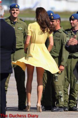 kate middleton jenny packham buttercup yellow dress upskirt canada