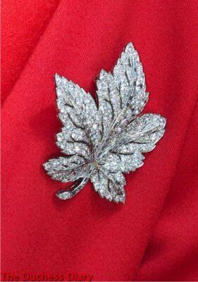kate middleton maple leaf brooch royal family calgary visit