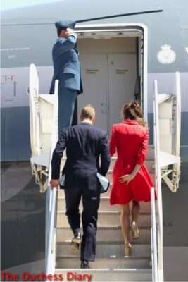 prince william kate middleton board plane prevent upskirt