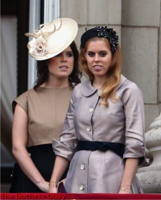 princess eugenie princess beatrice juliette botterill hats trooping the colour 2015