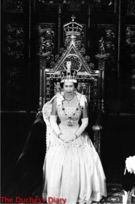 queen elizabeth crown state opening parliament 1966