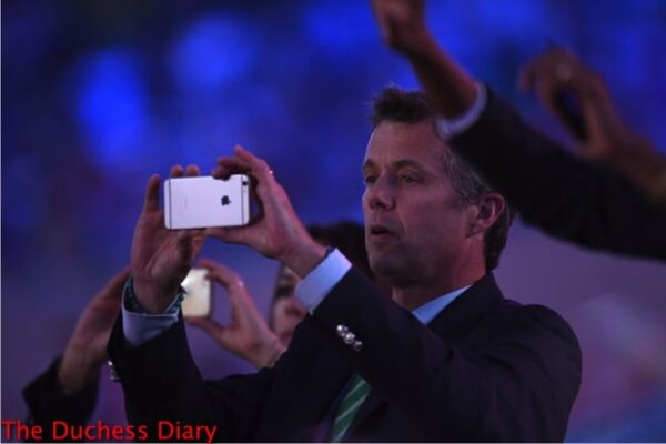prince frederik takes picture opening ceremony rio olympics games