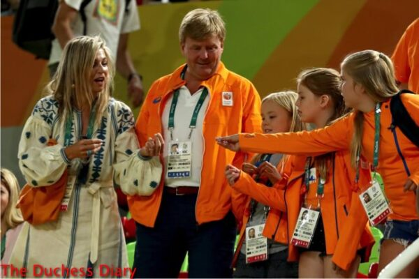 netherlands royal family meets gymnastic gold medalist rio olympics