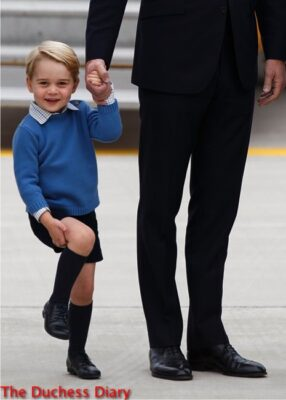 prince george laughs holds prince william hand victoria canada royal tour