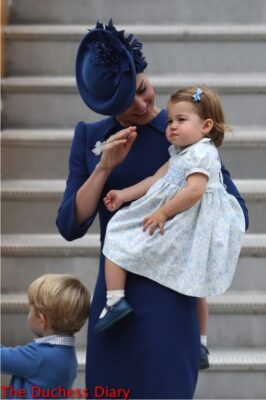 princes charlotte held by duchess cambridge waves victoria canada