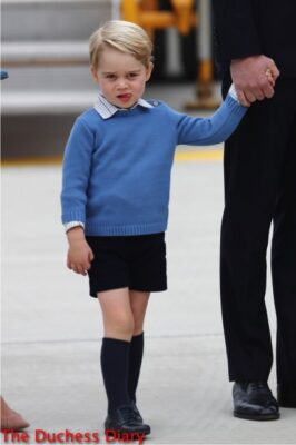 prince george stares crowds tarmac victoria airport
