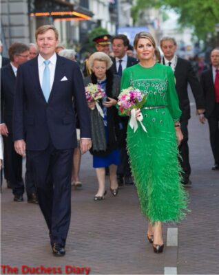 prince willem alexander queen maxima green dress freedom concert amsterdam