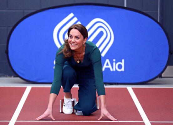 KateMiddleton takes Her Mark Starting Line Track SportsAid Event