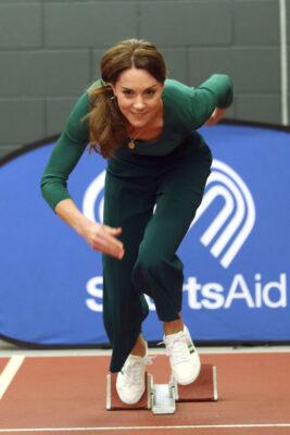 Kate Middleton Runs Track SportsAid Event February 202