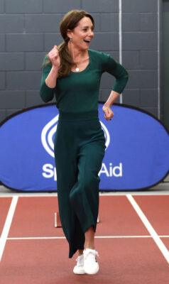 Kate Middleton Green Outfit Powerwalks SportsAid Event London