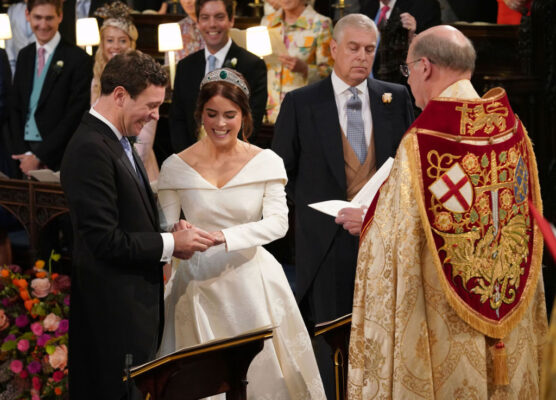 Princess Eugenie Jack Brooksbank Exchange Rings St. George's Chapel 2018 Royal Wedding