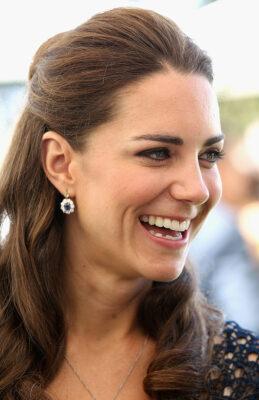 Kate Middleton Blue Sapphire Earrings Tusk Trust US Patrons Circle 2011