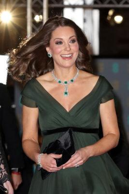 Kate Middleton Emerald Earrings 2018 BAFTA Awards